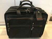 Tumi Alpha Business Deluxe Wheeled Expandable Rolling Briefcase Black