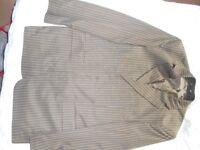 Muga 3 Piece Suit (Brown / Pinstripe)