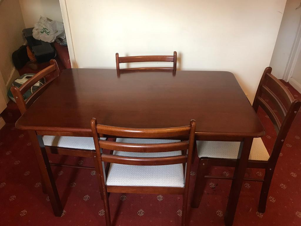 Wooden Dining Table With 4 Chairs Leicester