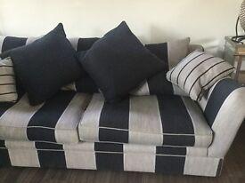 Large grey/black sofa