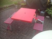Folding Camping Table & Chairs