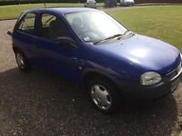 VAUXHALL CORSA W 998cc only ONE OWNER ONLY 78,000 miles IMMACULATE TOTALLY ORIGINAL STATE ONLY £625