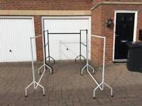 Clothes rails heavy duty ideal for car boots markets
