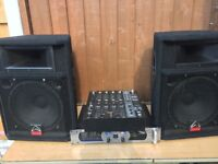 Speakers Mixer and Amplifer