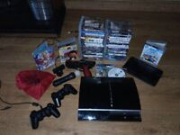 Playstation 3 Console, Accessories & 47 Games