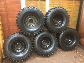 Landrover wheels and tyres offroad x5