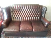 3 seater chesterfield settee