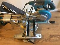 Makita adjustable mitre saw and stand 110v