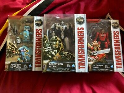transformers the last knight Nitro Drift and Squeeks great condition w/ boxes