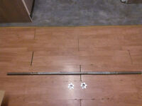 "5ft Foot Bar Barbell Weight Lifting 1"" Spin lock"