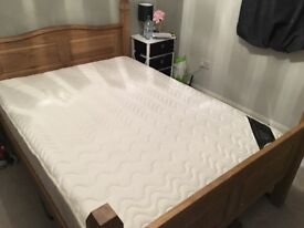 Double Bed Frame & Memory Foam Mattress (Set or Seperate)