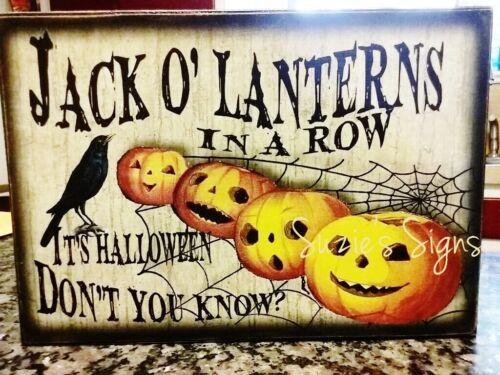 Primitive Halloween Sign Jack o