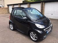 SMART 2014 CONVERTIBLE FOR TWO EDITION 21 MHD SEMI AUTO 25k miles black semi-auto great condition