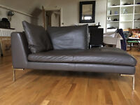 York 2 Seater Leather Chaise Long