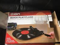 ion quick play flash conversion turntable
