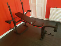 Adidas Weights Bench with Weight Set