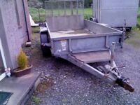 Ifor Williams 10 x 5ft9 PLANT TRAILER,V.Good Condition, lights/brakes working