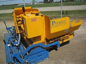 2009 PUCKETT BROS 540 **AS NEW**
