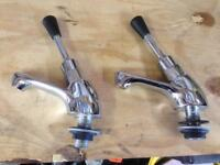 Pair of Commercial Lever Taps