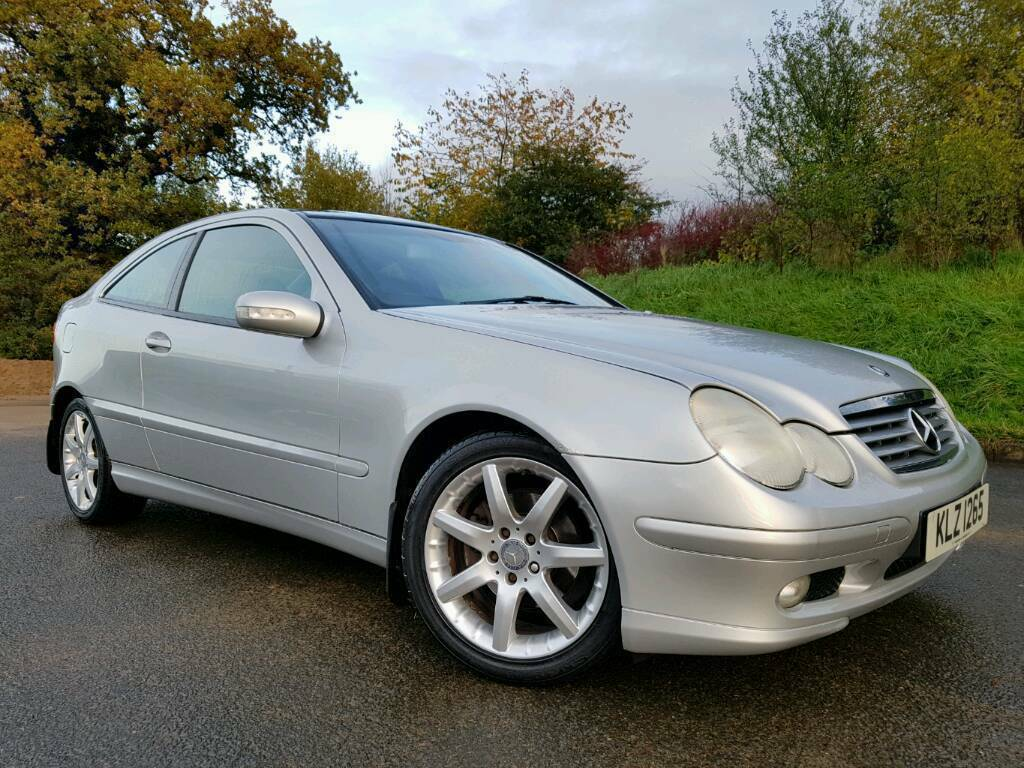 sorry now sold mercedes benz c200 sport kompressor c class coupe manual only 65000 miles. Black Bedroom Furniture Sets. Home Design Ideas