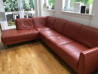 large ikea leather corner sofa for sale