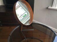 Vintage Durlston Designs Robert Welch Vanity Mirror 1960s Atomic Steel Teak