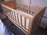 Mothercare Deluxe Gliding Crib + Memory foam Mattress - Excellent Condition 30£