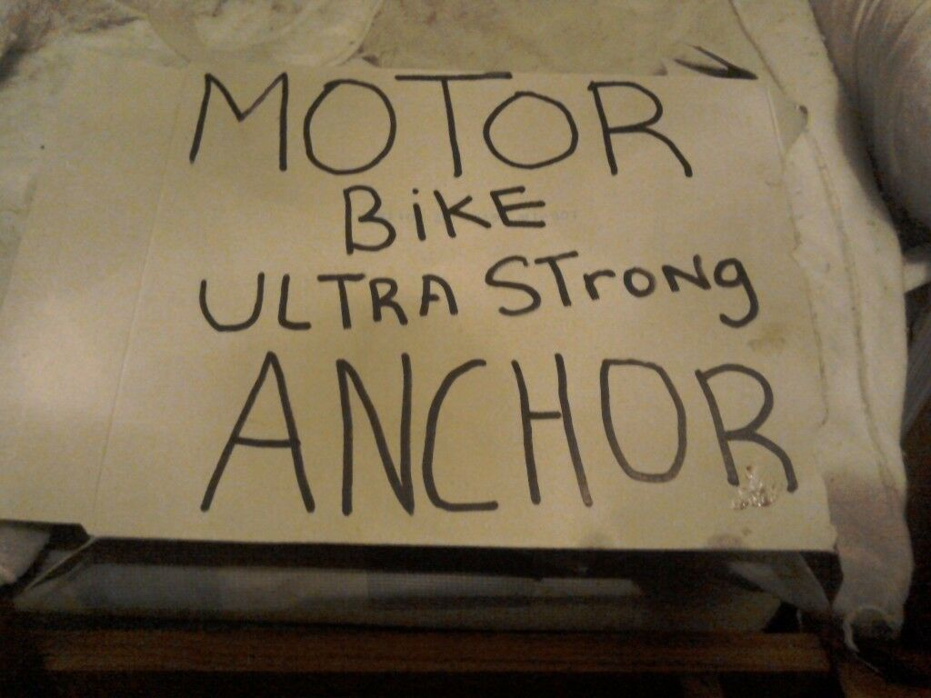 Here is a motorbike super strong anchor bolts to floor