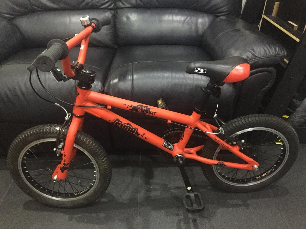 "Cuda Dirt Squirt 16"" Wheel Kids' BMX Bicycle Aluminium Red"