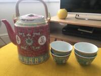 Traditional Japanese tea set