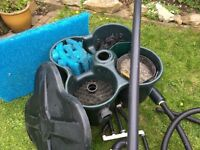 Cloverleaf CL1 four chamber Koi/pond filter with media, sponge,matting and pipework. Used.