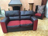 Leather sofa 4 Piece''Calia Italia''Luxury Italian 4 piece leather suite.