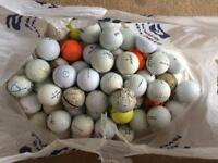 100 Golf Balls including Titleist, Callaway, Srixon, Wilson etc