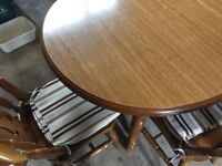Large Wooden Kitchen Table (Excellent Condition) - Expandable in Size & Includes 6 Wooden Chairs