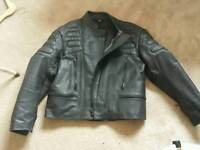 Brand new leather motorbike jacket