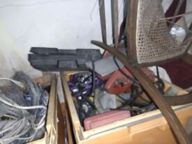 Old electrical power tools variable fixings bits and bobs