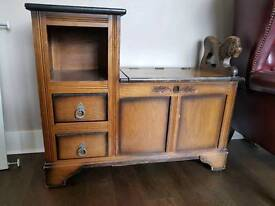 Solid Wood Lion Telephone Table Storage Cabinate Unit