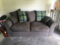Virtually new 3 seater grey sofa
