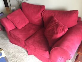 Red sofas (2) for sale