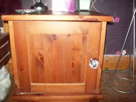 A Pair of Two Pine Bedside Tables/draws