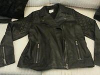 Size 16 ladies fat face leather jacket