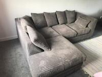 Grey corner sofa and double sofa