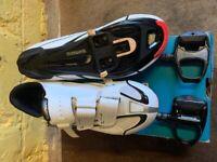 Shimano SH-R088W White Cycling Shoes