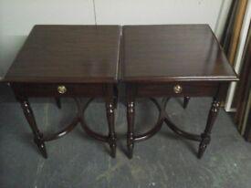 Ex display HSL pair of side tables RRP £190 each Us £80 pair