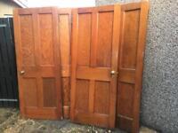4x Beautiful Original 1930's Douglas Fir Doors