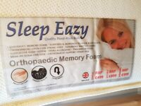 Very good quality and very comfortable king size - orthopaedic memory foam mattress.