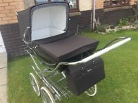 Kensington silver cross pram