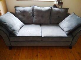 Dark Grey Sofa and Arm Chair
