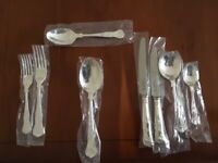 George Butler 44pc Kings design silver plated cutlery set