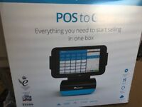 Epos system with cash drawer and till rolls